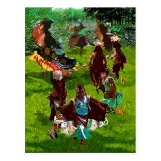 Cherokee Butterfly Dance Postcard