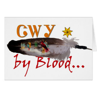 Cherokee by Blood Greeting Card