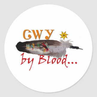 Cherokee by Blood Classic Round Sticker
