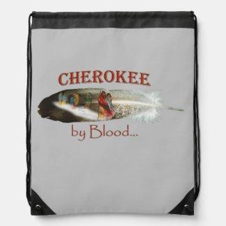 Cherokee by Blood Drawstring Bag
