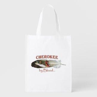 Cherokee by Blood Grocery Bag