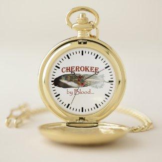 Cherokee by Blood Pocket Watch