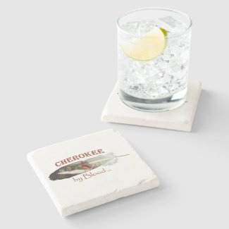 Cherokee by Blood Stone Coaster