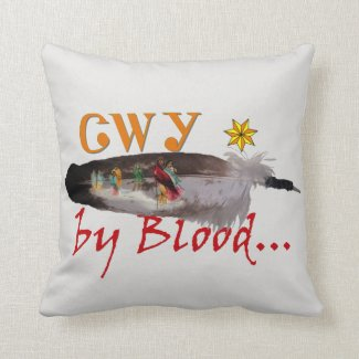 Cherokee by Blood Throw Pillow