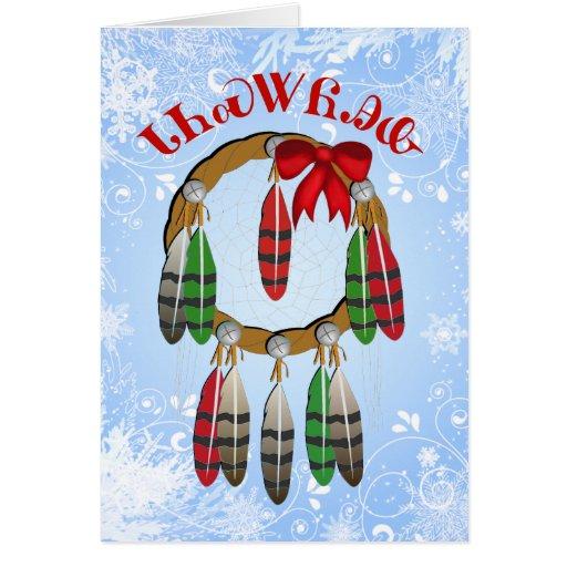Cherokee Christmas Dream Catcher Card