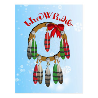 Cherokee Christmas Dream Catcher Postcard
