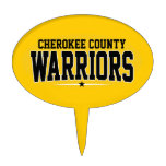 Cherokee County; Warriors Oval Cake Toppers