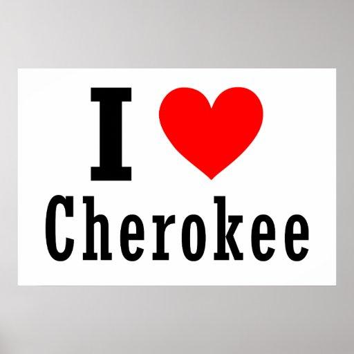 Cherokee, diseño de la ciudad de Alabama Posters