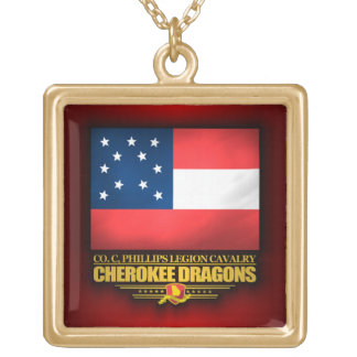 Cherokee Dragons Gold Plated Necklace
