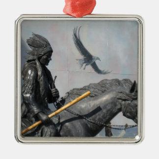 Cherokee & Eagle Metal Ornament