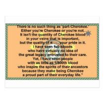 cherokee flag-prayer post card
