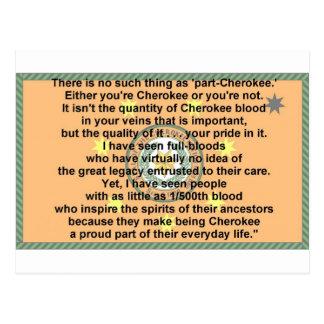 cherokee flag-prayer postcard