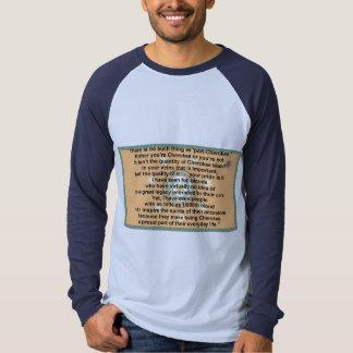 cherokee flag-prayer t-shirt