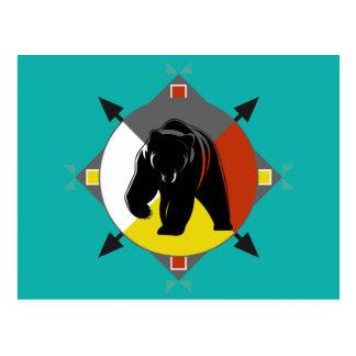 Cherokee Four Directions Bear Postcard