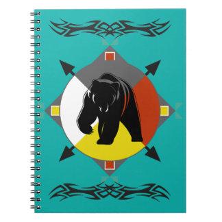 Cherokee Four Directions Bear Spiral Notebook
