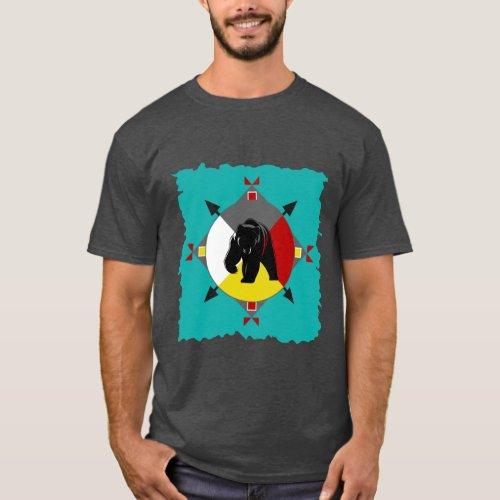 Cherokee Four Directions Bear T_Shirt