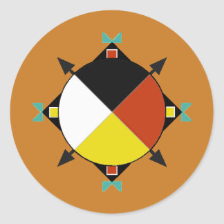 Cherokee Four Directions Classic Round Sticker