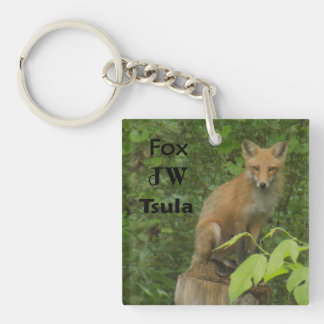 Cherokee Fox Beautiful Photo Acrylic Keychain