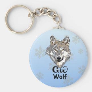 Cherokee Gray Wolf Keychain