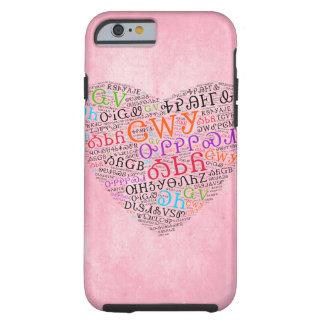 Cherokee Heart Cloud Pink Tough iPhone 6 Case