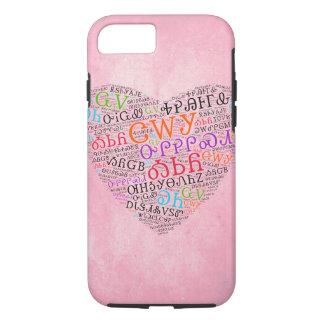 Cherokee Heart Cloud Pink Tough iPhone Case