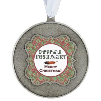Cherokee Holiday Greetings Scalloped Ornament