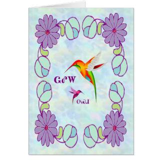 Cherokee Hummingbird Card