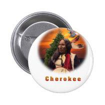Cherokee Indian art Button