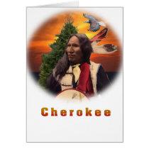 Cherokee Indian art Greeting Cards