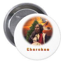 Cherokee Indian art Pinback Buttons
