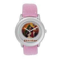 Cherokee indian wrist watch