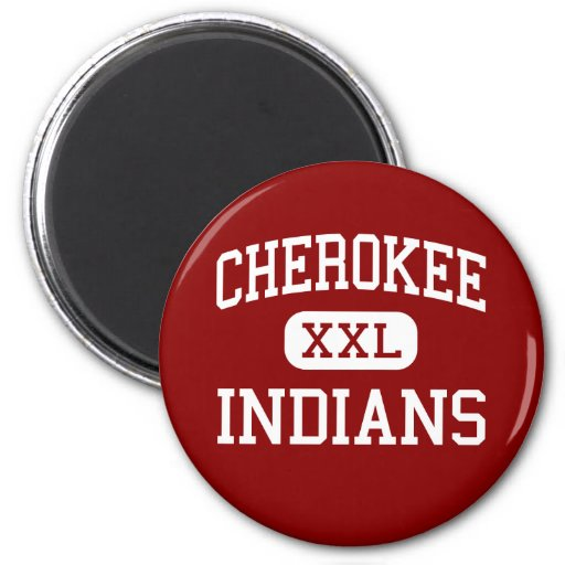 Cherokee - Indians - Middle - Springfield Missouri 2 Inch Round Magnet
