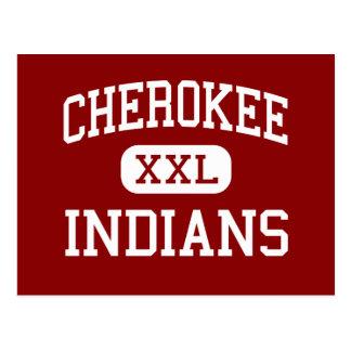 Cherokee - Indians - Middle - Springfield Missouri Postcard