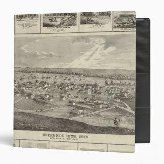 Cherokee, Iowa, 1875 businesses in Centerville 3 Ring Binder