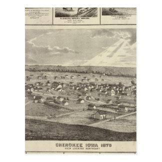 Cherokee, Iowa, 1875 businesses in Centerville Postcard