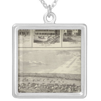 Cherokee, Iowa, 1875 businesses in Centerville Silver Plated Necklace