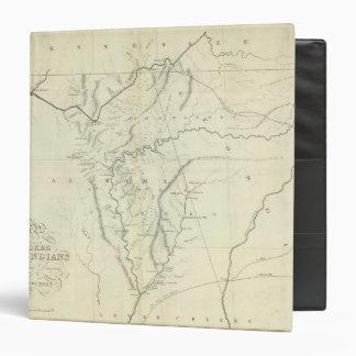 Cherokee Map 3 Ring Binders