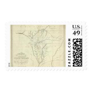Cherokee Map Postage