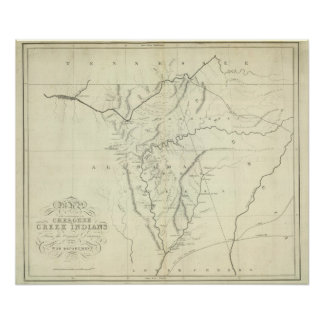 Cherokee Map Poster
