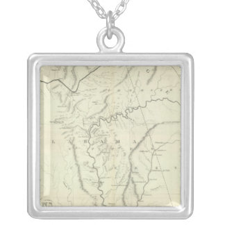 Cherokee Map Silver Plated Necklace