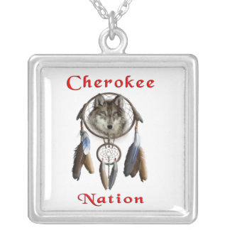 Cherokee Nation  clothing Silver Plated Necklace