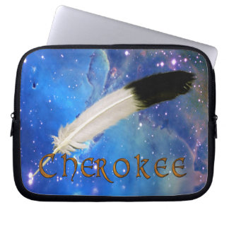 CHEROKEE Nation & Feather Space Laptop Sleeve