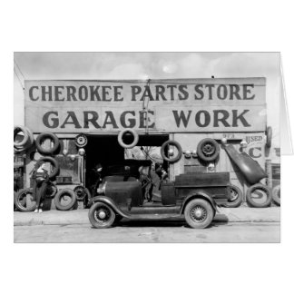 Cherokee Parts Store, 1936 Card