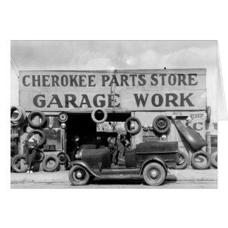 Cherokee Parts Store, 1936 Card