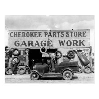 Cherokee Parts Store, 1936 Postcard