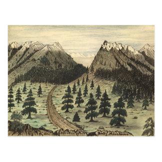 Cherokee Pass Rocky Mountains by Daniel A. Jenks Postcards