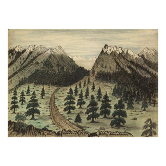 Cherokee Pass Rocky Mountains by Daniel A. Jenks Posters