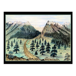 Cherokee Pass Rocky Mountains Post Cards