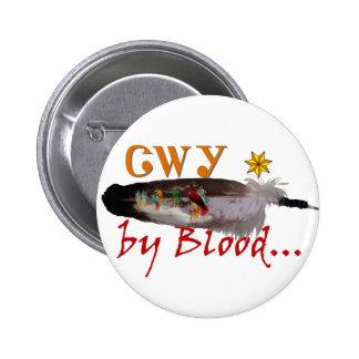 Cherokee por sangre pin redondo de 2 pulgadas
