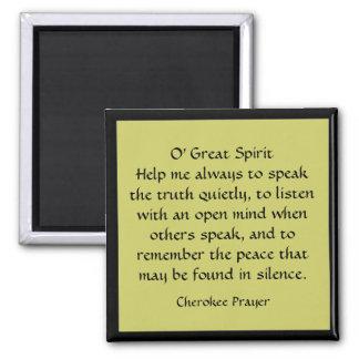 Cherokee Prayer Magnet